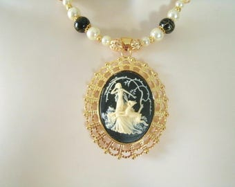 Goddess Diana Necklace, wiccan jewelry pagan jewelry wicca jewelry goddess jewelry witch witchcraft magic pagan necklace wiccan necklace