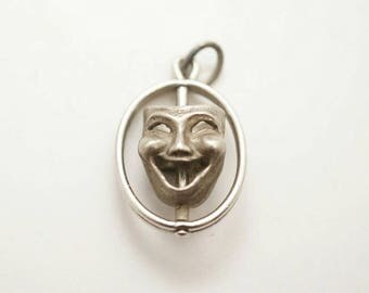 Vintage Beau Sterling Comedy and Tragedy Theater Spinner Charm