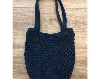 Crochet Market Bag | Navy