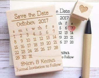 Save the Date Stamp Calendar Wedding Custom Stamp