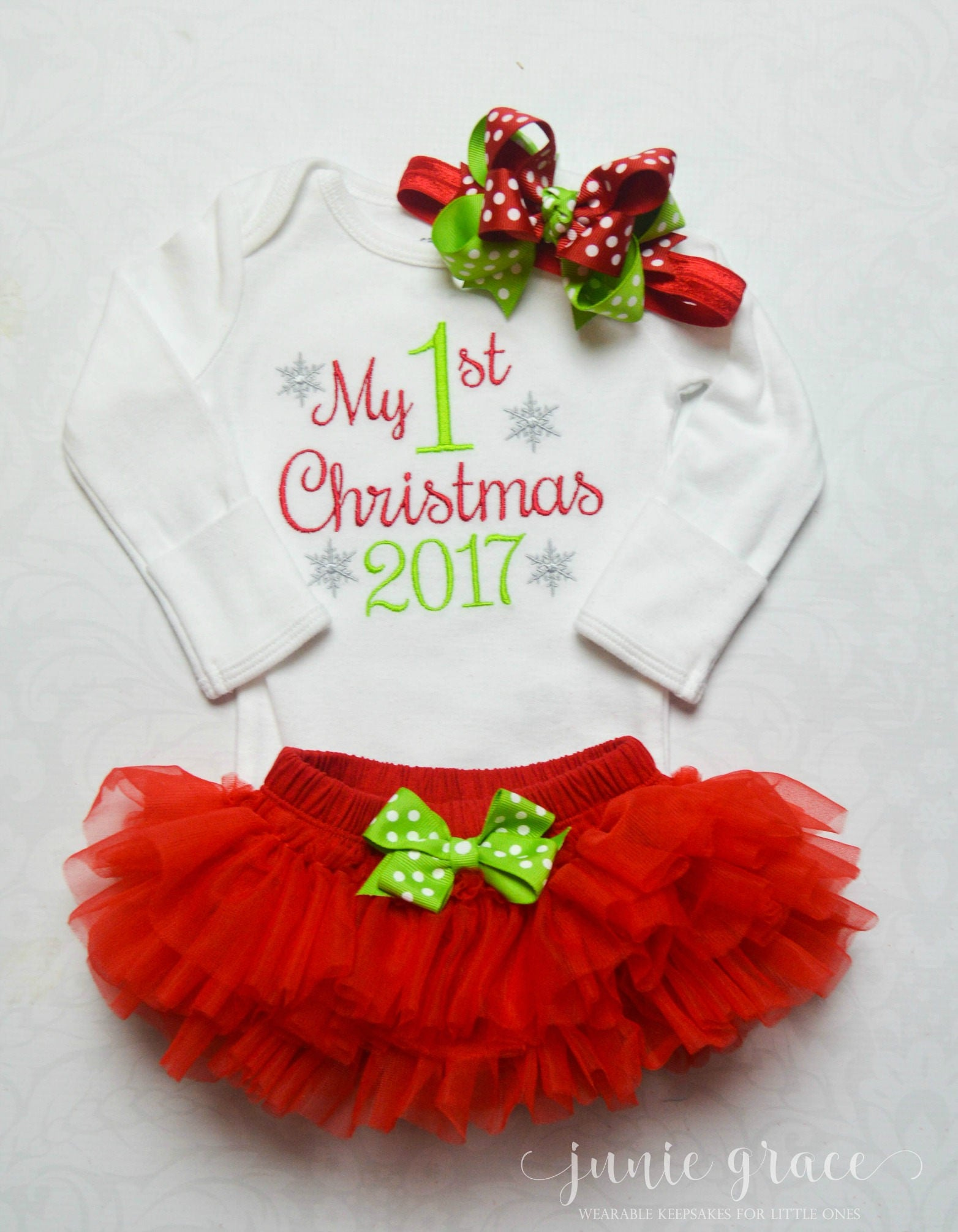 Baby Girl First Christmas Outfit Baby Girl Christmas Outfit