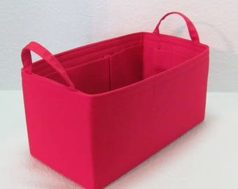 Ready to Ship ..Red Medium 11L x 5.75D x 5.5T w/ 2 end straps.... Purse Insert ORGANIZER . . Strong and Durable -  #A2
