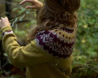 Icelandic sweater, in golden heather