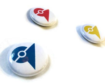 "Pokemon Go Gym Marker 1"" Buttons"