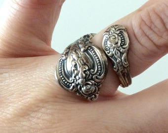 1960's Sterling Silver Spoon Ring Estate Jewelry Boho Vintage Ring by Maeberry Vintage