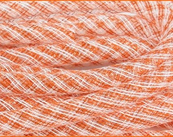CLEARANCE - 16mm Orange/White Stripe Flex Tubing RE3028M1