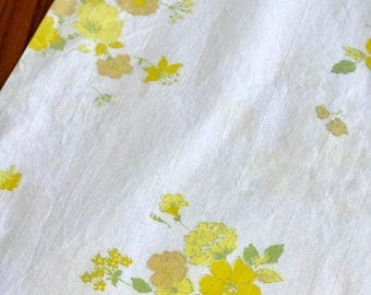 SALE 2 Vintage standard pillowcases remix bed sheets bedding retro linens fabric floral made in USA