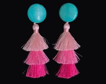 Summer Pink ombre earrings