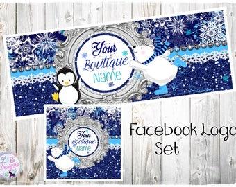 Facebook Logo Design Set - Icy Friends
