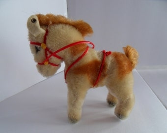 Steiff horse pony miniature mohair button made in Germany 2442