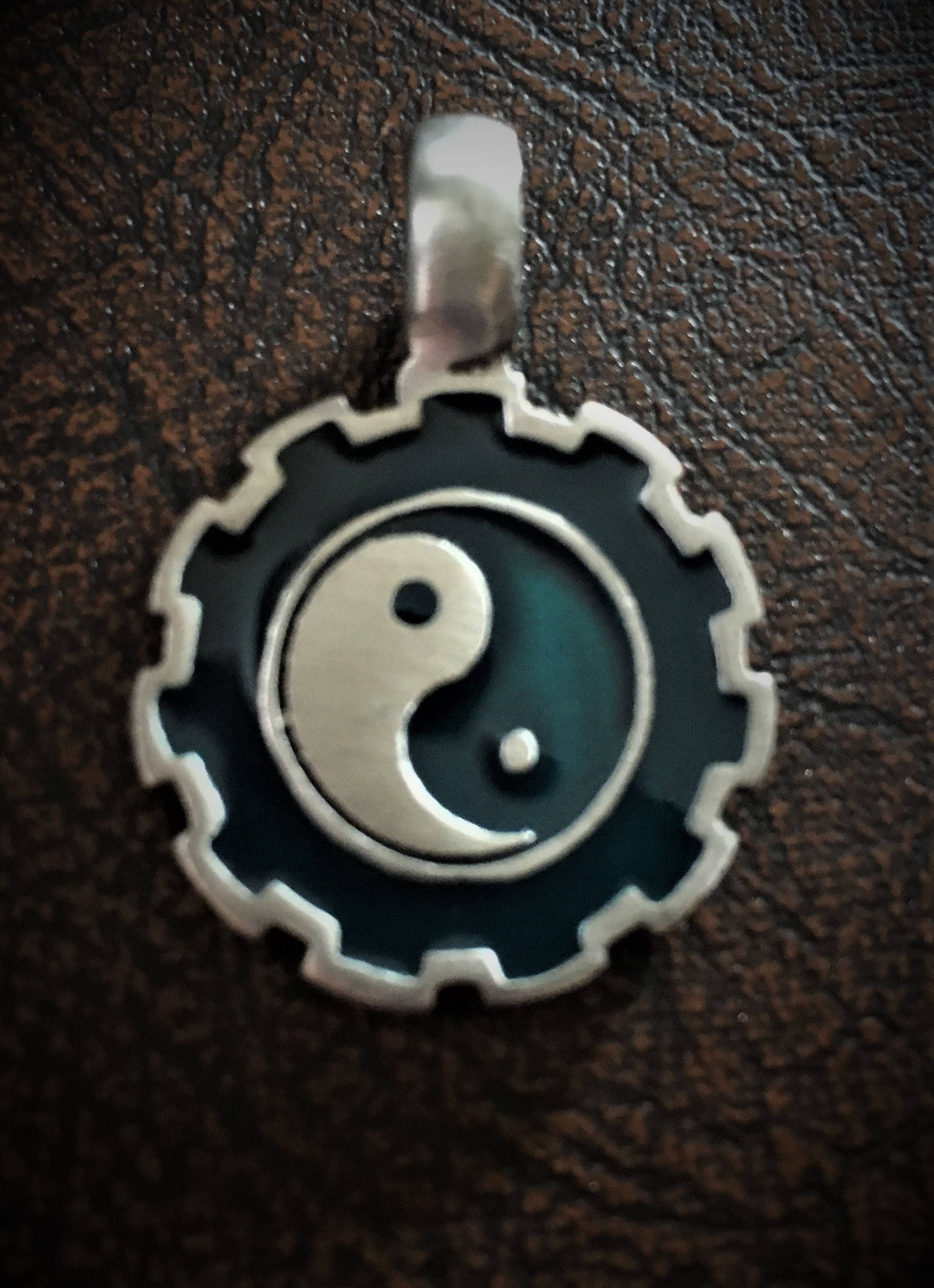 25 mm pewter and enamel yin yang pendant zoom aloadofball Choice Image