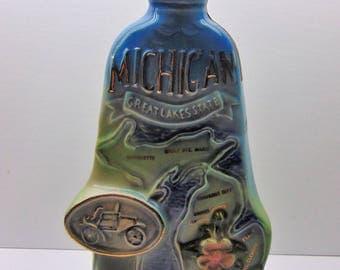 Vintage Jim Beam Decanter,  Michigan Decanter