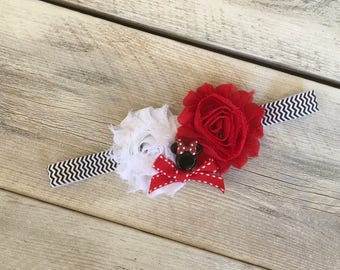 Last One Minnie Mouse Inspired Headband Infant Fits 3-6 Months Baby Girl