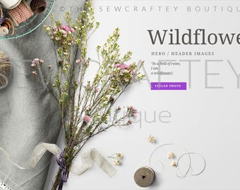 Wildflower 1 Stock Photo | Styled Stock Photography | Product Mockup  | Styled Scene | Digital Image | High Res File