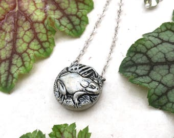 Frog Necklace, Gold Frog Pendant, Silver Frog Jewelry, Toad Necklace, Frog Gift Idea, Frog Jewellery, Toad Charm, Frog Lover Gift Frog Charm
