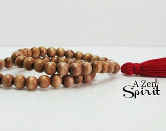 Wrist Mala Set, Meditation Bracelet Set, Boho Bracelet, Yoga Jewelry, Tassel Bracelets