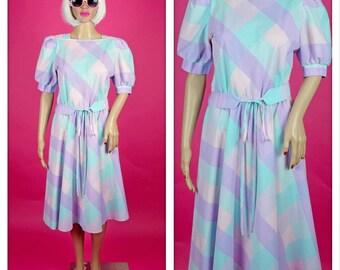 Vintage 1980s Pastel Perfection Party Dress