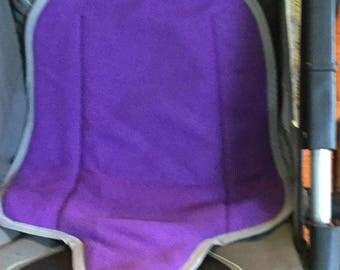 POTTY TRAINING MUST Carseat Protector Waterproof Stroller Pad Kidz Wiz Pad- Purple