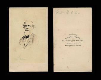 Original 1860s Civil War Photo of Confederate General Robert E. Lee