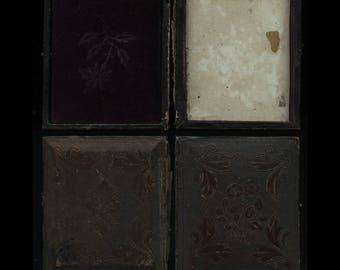 Empty 1840s Leather Daguerreotype Case for 1/6 Photos