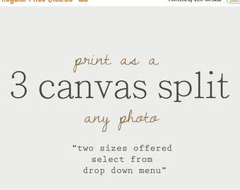 WEEKEND SALE Choose any photo as a 3 CANVAS Split