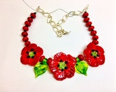 Custom item for Sammyed-floral necklaces by Mystic Moon Beads
