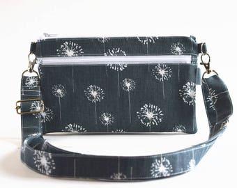 Small Cross Body Bag - Cross Body Purse - Summer Handbag - Summer Bag - Fabric Handbag - Travel Purse - Gift for Her -  Ready to Ship