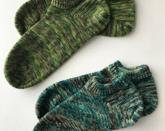 Hand Cranked Women's Summer Socks, tgknits Hand Dyed
