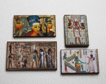 Miniature 1:12 Scale Egyptian Art for Dollhouse or Roombox