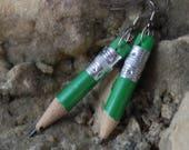 Beautiful Tiny Pencil Dangle Earrings E 79
