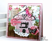 Just For You All Occasion Greeting Card Vintage Inspired Polly's Paper Studio Handmade