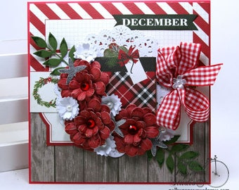 December Christmas Greeting Card Polly's Paper Studio Handmade