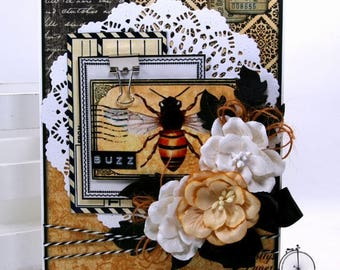 Buzz Bee All Occasion Greeting Card Polly's Paper Studio Handmade