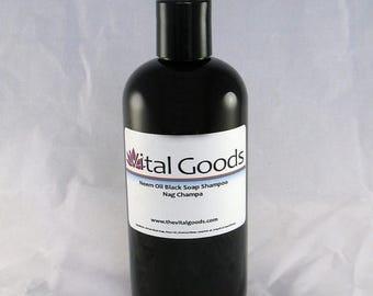 ON SALE Dreadlock shampoo Neem Nag Champa Black Soap Shampoo 12oz (VEGAN)
