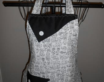 Black and White Cats Women's Apron