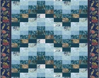 Ocean Beach Quilt ePattern, 5082-1e, bargello quilt pattern, bargello lap quilt pattern
