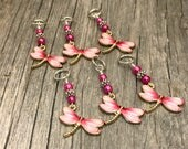 Pink Dragonfly Stitch Markers | Snag Free Knitting Marker | Gifts for Knitters