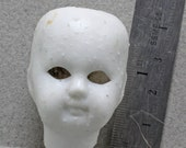 Antique Excavated Vintage Miniature German Porcelain  Doll Head For Glass Eyes and Wig 1870-90 Oscarcrow