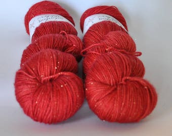 Glitter Sock - Vermillion