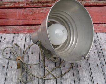 Aluminum Light Holder-Light Reflector-Mid Century Aluminum Light-Vintage Lighting