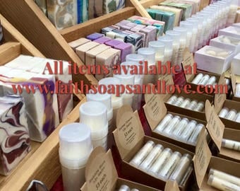 All Items Now Available On Website www.faithsoapsandlove.com