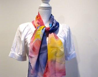 Handmade silk scarf