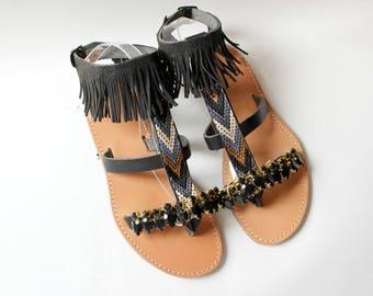 SALE!size 39 -US 8-8.5 Greek sandals, leather sandals  sandales grecques chaussures grecques