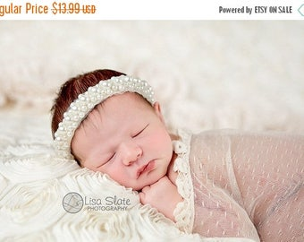 12% off NEW! Pearl cluster trim Baby headband, newborn headband, adult headband, child headband and photography prop,Vintage and elegant