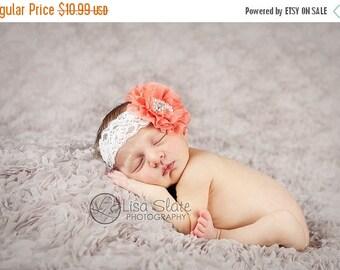 12% off SALE baby headband, newborn headband, adult headband, child headband and photography prop, SPARKLE FLOWER