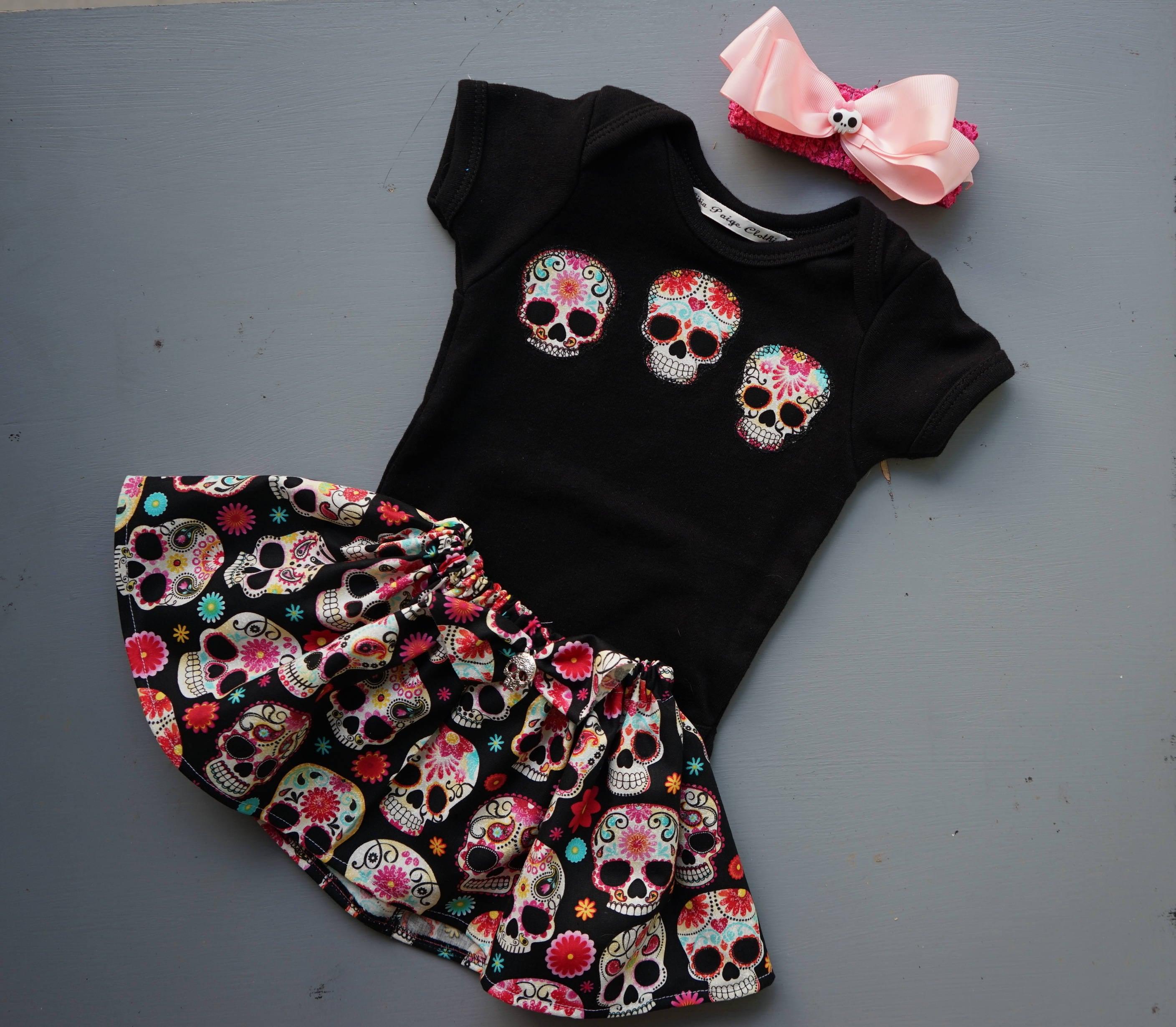 Olivia Paige Little girls sugar skull Harley rockabilly pin up