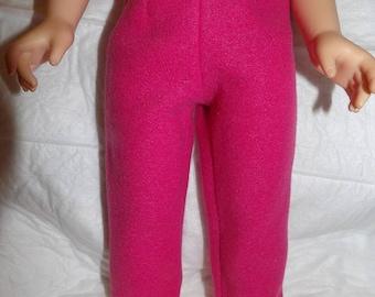 Hot pink Fleece leggings for 18 inch dolls - ag312