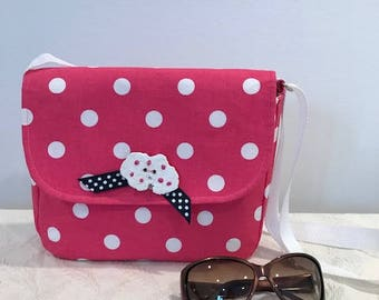 Polka Dot Saddle Bag