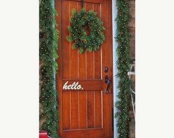 20% OFF Hello front Door Vinyl porch decal  Lettering wall words quotes Home decor itswritteninvinyl