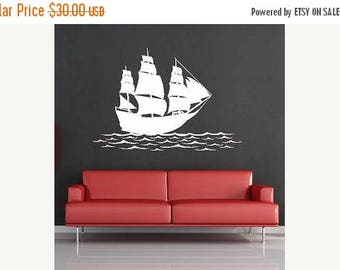 20% OFF Ship on the water-Vinyl Lettering  decal wall art words graphics Home decor itswritteninvinyl